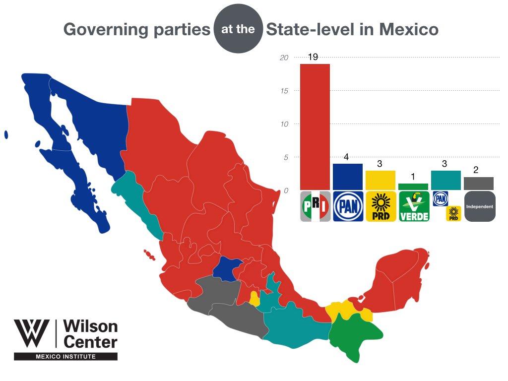 Political Parties By State Map.The 2015 Election The Mexico Institute S 2015 Elections Guide